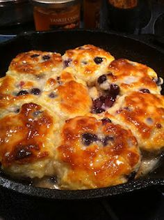 Sweet Blueberry Biscuits...homemade BoBerry biscuits, yes please!
