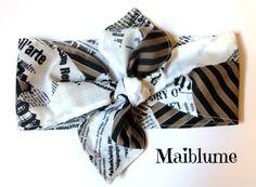 Haarband Rockabilly Zeitungsdruck von Maiblume - fiore di maggio auf DaWanda.com
