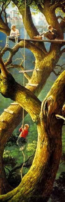 Greg Olsen - The Fraternity Tree - ArtUSA.com - Toll-Free 1-877-444-0777 or 1-440-354-7002