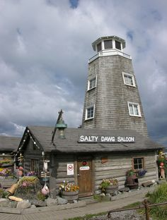 Homer Alaska Salty Dawg Saloon is a well-known landmark on the Homer Spit in Homer, Alaska. Photo by and (c)2006 Derek Ramsey