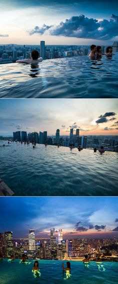 Swimming over Singapore