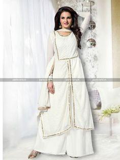Off White Color Semi Georgette Party wear Salwar Kameez