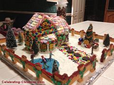 I made this Victorian Gingerbread House, Dec 2012 and it was on Celebrating-Christmas.com.  Very excited.