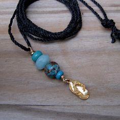 Dainty flipflop necklace Golden sandal pendant by Helenadesignsart