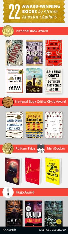 Check out these 22 award-winning books by African American authors.