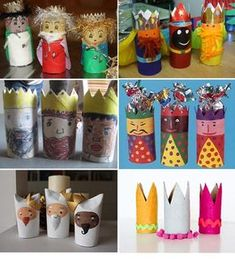 Here are 16 awesome ideas for diy Christmas decorations. Some of the material I got from a dollar tree store. A Christmas Story, Christmas Crafts, Christmas Decorations, Paper Towel Roll Crafts, Material Didático, Bible School Crafts, Crafts For Kids, Arts And Crafts, Christian Christmas