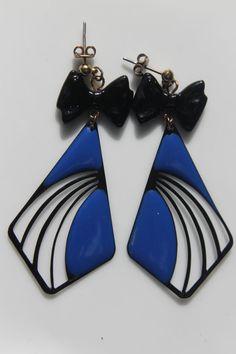 Vintage pendant earrings NEW 80s deadstock Found by LeVintageParis, $20.00