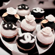 Cocoa & Fig - Chanel Cupcakes   #cupcakes #chanel