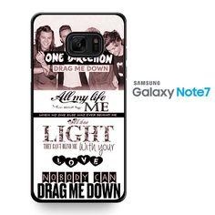 One Direction Drag Me Down Lyrics 1d TATUM-8215 Samsung Phonecase Cover For Samsung Galaxy Note 7