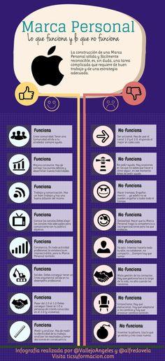 Lo que funciona y lo que no en tu #MarcaPersonal. #Infografia #PersonalBranding