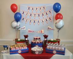 Baseball theme party dessert table