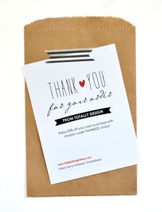 Business Thank You Cards INSTANT DOWNLOAD by totallydesign, $10.00