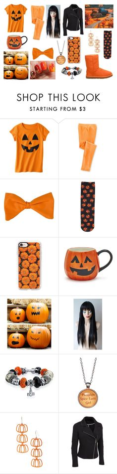 """Pumpkin Spice"" by lunaofthemoon ❤ liked on Polyvore featuring Circo, Casetify, Sur La Table, Bling Jewelry, Bubbly Bows, Carole and plus size clothing"