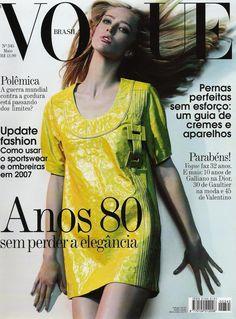 Raquel Zimmermann by Henrique Gendre Vogue Brazil May 2007