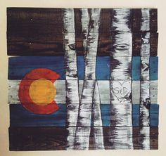 Colorado Flag/Aspen Couples Custom Reclaimed Pallet Board Art Decor for Valentines' Day, Wedding, Engagement, Birthday Gift or Just Because!