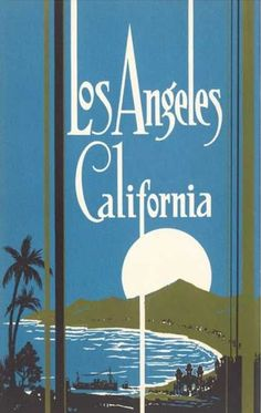 Graphic poster of the Santa Monica Bay