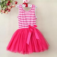 Girl Lace Dress Purple Striped Infant Tutu Pattern Skirt , party wear dresses for girls, party dresses 2012 Pink Tutu Dress, Girls Lace Dress, Girls Party Dress, Party Wear Dresses, Baby Girl Dresses, Ball Dresses, Baby Dress, Pink Tulle, Tutu Dresses