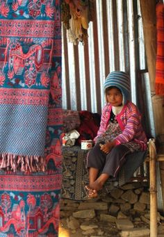 Photo by Louise Cahill  Nepal pokhara people children cute tea colour pink