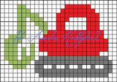 Fant noen fine diagrammer av e Pixel Crochet, C2c Crochet, Tapestry Crochet, Crochet Chart, Cross Stitch Baby, Cross Stitch Charts, Cross Stitch Designs, Cross Stitch Patterns, Knitting Charts