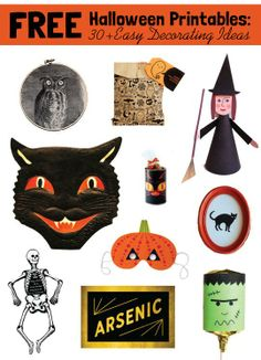 Free Halloween Printables: 30+ Easy Decoration Ideas from Around the Web | Apartment Therapy
