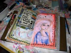 Journaling about Womanly Woes by Jennibellie, http://jennibelliestudio.blogspot.co.uk/2012/10/womanly-woes.html