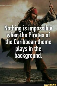 Yesterday my sister couldn't find her other sock so as a joke I did the Pirates of the Carribean theme and she found it straight away 😂 The Pirates, Pirates Of The Caribbean, Funny Quotes, Funny Memes, Hilarious, Johnny Depp, Will Turner, Jack Sparrow Quotes, Jack Sparrow Funny