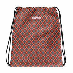 Orange Geometry - Drawstring bag