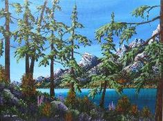 Mark Sharp Canadian Artist Original acrylic on canvas by Mark Sharp. Mark has released his latest works. Canadian Artists, Original Paintings, Landscapes, Mountain, The Originals, Water, Outdoor, Paisajes, Gripe Water