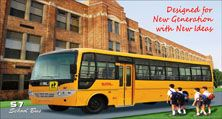 School bus the newly launched bus of SML With AC n NON-AC variants Sharma School