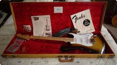#Fender / #Stratocaster / #1956 / #Sunburst #VintageGuitars #Guitars