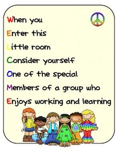 Free!! WELCOME Poster Pack comes with 4 FREE posters that you can either hang on your classroom door, bulletin board, or anywhere around your room....