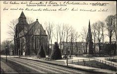 Ansichtskarte / Postkarte Greifswald in Mecklenburg Vorpommern, Rubenow Denkmal und Jacobi Kirche   akpool.de