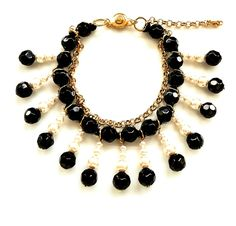 Bracelet for sale $40 boho chic style black and white