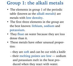 group i the alkali metals - Periodic Table Alkali Metals Reactivity