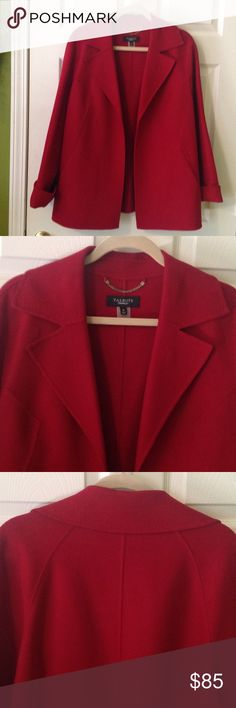 Talbots wool jacket Double-faced wool, raglan sleeve, collared jacket, the color is the perfect red! Talbots Jackets & Coats Blazers