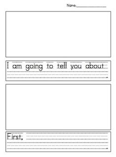 This writing paper will help your child organize his story in a systematic way. Enjoy!Rebecca...