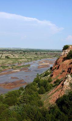 Cimarron River Near Freedom, Oklahoma - 698 miles. Flows into Arkansas River.
