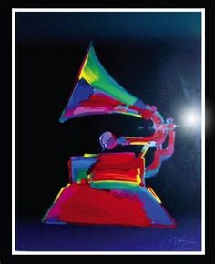 Peter Max Limited Edition Grammy '89 Serigraph