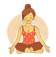 Yoga by kimpertinent on DeviantArt Pranayama, Kundalini Yoga, Yoga Meditation, Meditation Pictures, Yin Yoga, Yin Poses, Yoga Drawing, Rishikesh Yoga, Yoga Illustration