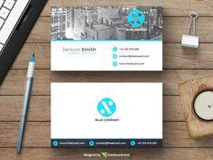 Minimal business card with new york skyline - Freebcard