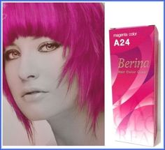 Berina Hair Color Cream Magenta Color A24 Permanent Hair Dye Super Color >>> You can find more details by visiting the image link.