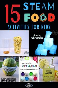 These 15 STEAM food activities offer great hands-on learning opportunities for kids of all ages! #foodscience #STEMed #STEM #homeschool #teachingkids