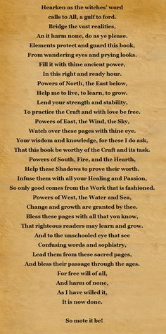 Blessing of the Book of Shadows