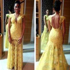 vestidos prom dresses,Yellow Trumpet/Mermaid V-neck Short Sleeve Tulle With Lace Prom Dresses Evening Dresses 140 Junior Prom Dresses, Prom Dresses 2016, Unique Prom Dresses, Backless Prom Dresses, Tulle Prom Dress, Beautiful Prom Dresses, Popular Dresses, Prom Party Dresses, Sexy Dresses