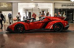 Lamborghini Veneno Roadster Spotted in Italy Lamborghini Veneno Roadster, Red Lamborghini, Ferrari, Luxury Automotive, New Luxury Cars, Volkswagen Group, Vintage Classics, Amazing Cars, Awesome