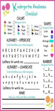 FREE Kindergarten Readiness Checklist Preschool & Phonics Curriculum Choices