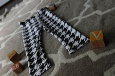 Hounds Tooth Baby Leggings by monsterandthemoose on Etsy - These baby bottoms are soft, supple, and versatile-- AND they make the best baby shower gifts!