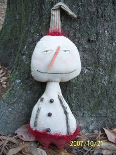 Primitive Christmas Snowman  Twinkle Toes by Rabbithollowprims, $16.95