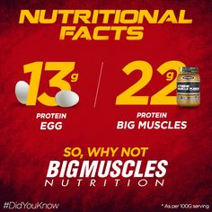 Eat your way towards better #health! #BigMusclesNutrition #DidYouKnow Know more of the product: bit.ly/BMXtremeMuscleFusion