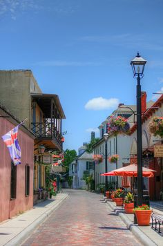 Aviles Street, St. Augustine, Florida - it is old world and a very Spanish feeling everywhere